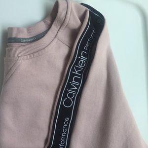Calvin Klein Performance Logo Stripe Sweat Shirt